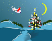 Nature of Christmas holidey — Foto Stock