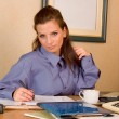 Business woman at office — Stock Photo #2270757