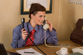 Businesswoman call at office — Stock Photo