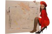 Painting cardboard — Stock Photo