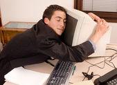 Empresário no escritório — Foto Stock