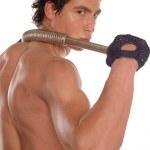 Wet sweaty bodybuilder — Stock Photo #2327394