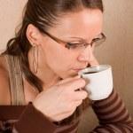 Drinking coffee — Stock Photo #2328247