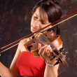Girl with violin — Stock Photo #2340429