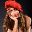 Red beret — Stock Photo
