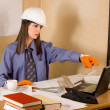 Female architect - Stock Photo