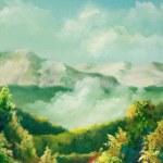 Summer landscapes — Stock Photo