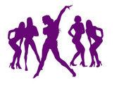 Dans av sexiga tjejer för nyår — Stockfoto