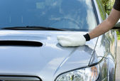 Cleaning the Car — Stock Photo