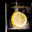 Citron splash - Stock Photo