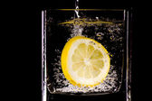 Citron splash — Stock Photo