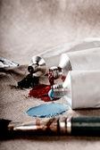 Look vintage de los tubos de pintura — Foto de Stock