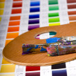 Artistic equipment and color chart - Photo