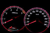 Dashboard gauges — Stock Photo