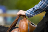 Western riding equipment detail — Stock Photo