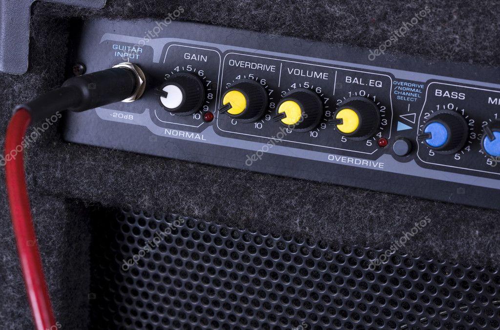 吉他放大器 - 图库图片