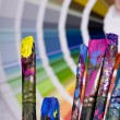 Artistic equipment and color chart — Stock Photo #2450377