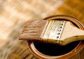 Wood protecting paint — Stock Photo