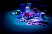 Poker gear light impression — Stock Photo