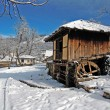 Stock Photo: Snowy mill