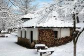 Snowy mill — Stock Photo