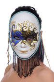 Vrouw met carnaval masker — Stockfoto