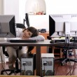 Tired at work — Stock Photo