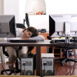 Stock Photo: Tired at work