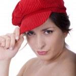 Pretty woman waring a hat — Stock Photo