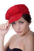 Pretty woman waring a hat — Stock Photo