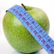 Apple and tape measure — Foto Stock