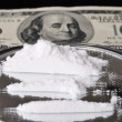 Stock Photo: Cocaine and one hundred dollar