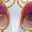 Eyes behind the mask — Stock Photo
