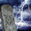 Tomb and storm - Stock Photo