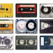 vintage audio-kassetten — Stockfoto