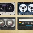 Vintage audio tapes — 图库照片