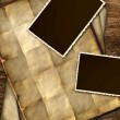 Vintage paper and frames - Stock Photo