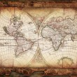 Vintage old map - Stock Photo