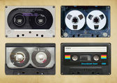 Vintage audio tapes — Stock Photo
