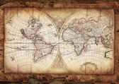 Vintage old map — Stock Photo