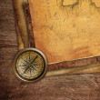 Vintage old paper and compass — Stock Photo