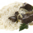 Rice with liver — Stock Photo