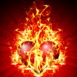 Fiery heart - Stock Photo