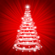 Royalty-Free Stock Photo: Original Christmas tree on red backgroun