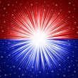Red and blue star background - Foto de Stock
