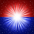 Red and blue star background - Foto Stock
