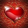 Royalty-Free Stock Photo: Heart on a red background
