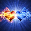 Royalty-Free Stock Photo: Two burning hearts