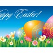 Easter greeting card - Stok Vektr