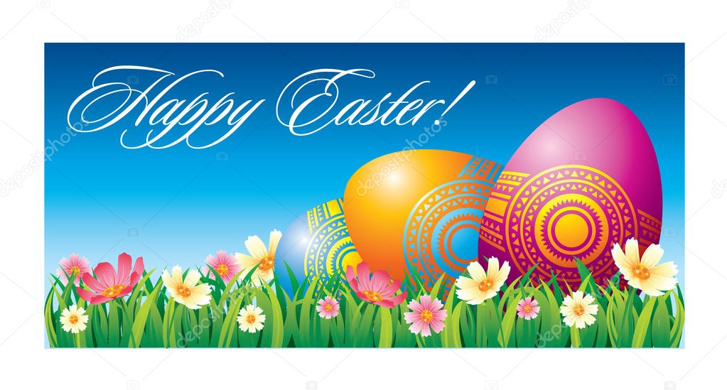 Easter greeting card — Vettoriali Stock  #2673107